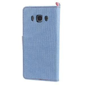 Denim peňaženkové puzdro pre Samsung Galaxy J5 (2016) - svetlomodré - 2