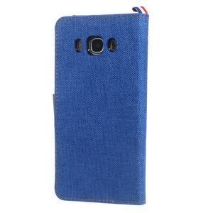 Denim peňaženkové puzdro pre Samsung Galaxy J5 (2016) - modré - 2