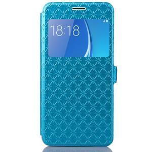 Stars puzdro s okienkom pre mobil Samsung Galaxy J5 (2016) - modré - 2