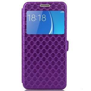 Stars pouzdro s okýnkem na mobil Samsung Galaxy J5 (2016) - fialové - 2