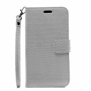 Croco peňaženkové puzdro pre Samsung Galaxy J5 (2016) - biele - 2