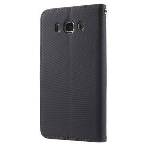 Gentle PU kožené peněženkové pouzdro na Samsung Galaxy J5 (2016) - černé - 2