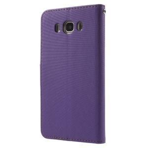 Gentle PU kožené peněženkové pouzdro na Samsung Galaxy J5 (2016) - fialové - 2