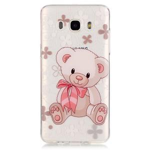 Priehľadný obal pre mobil Samsung Galaxy J5 (2016) - medvídek - 2