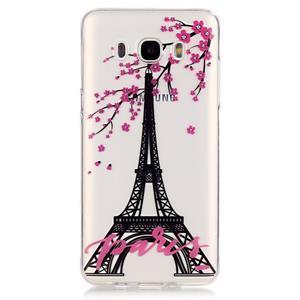 Priehľadný obal pre mobil Samsung Galaxy J5 (2016) - Eiffelova veža - 2
