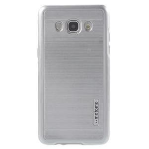 Gelový obal s plastovou výstuhou na Samsung Galaxy J5 (2016) - stříbrný - 2