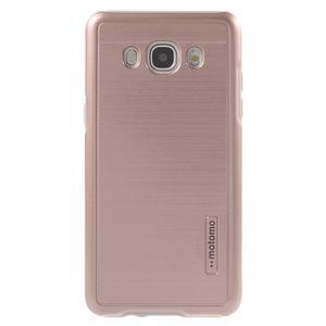 Gélový obal s plastovou výstuhou pre Samsung Galaxy J5 (2016) - ružový - 2