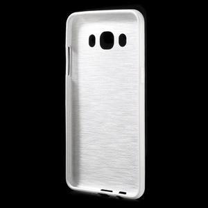 Brushed gélový obal pre mobil Samsung Galaxy J5 (2016) - biely - 2