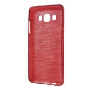 Brushed gélový obal pre mobil Samsung Galaxy J5 (2016) - červený - 2