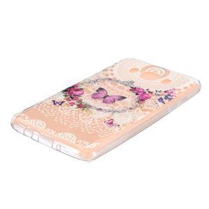 Transparentní gelový obal na Samsung Galaxy J5 (2016) - motýlci - 2