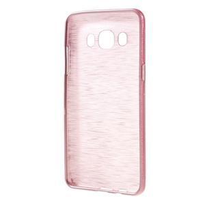 Brushed gelový obal na mobil Samsung Galaxy J5 (2016) - růžový - 2