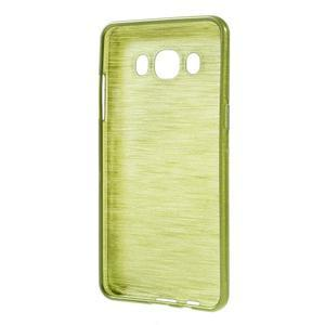 Brushed gélový obal pre mobil Samsung Galaxy J5 (2016) - zelený - 2
