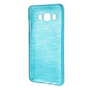 Brushed gélový obal pre mobil Samsung Galaxy J5 (2016) - modrý - 2