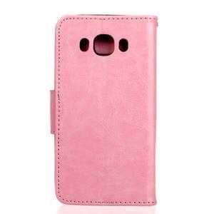 Wall PU kožené puzdro pre Samsung Galaxy J5 (2016) - ružové - 2