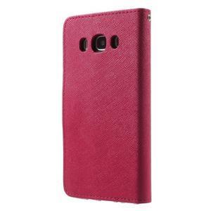 Routy PU kožené pouzdro na Samsung Galaxy J5 (2016) - červené - 2