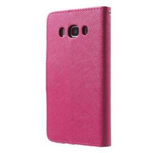 Routy PU kožené pouzdro na Samsung Galaxy J5 (2016) - rose - 2