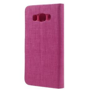 Cloth PU kožené pouzdro na Samsung Galaxy J5 (2016) - rose - 2