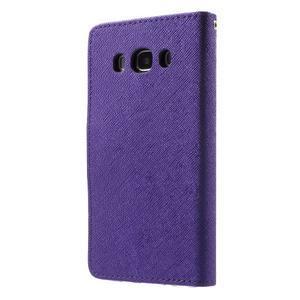 Routy PU kožené pouzdro na Samsung Galaxy J5 (2016) - fialové - 2