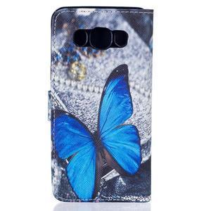 Knížkové pouzdro na mobil Samsung Galaxy J5 (2016) - modrý motýl - 2