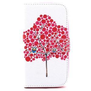 Knížkové puzdro pre mobil Samsung Galaxy S3 - strom soviček - 2