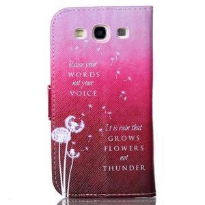 Emotive peňaženkové puzdro pre Samsung Galaxy S3 - púpavy - 2