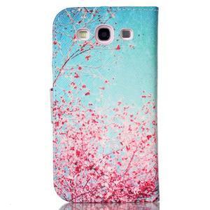 Emotive peňaženkové puzdro pre Samsung Galaxy S3 - kvitnúca slivka - 2