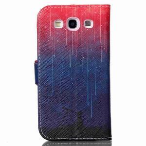 Emotive peňaženkové puzdro pre Samsung Galaxy S3 - meteory - 2
