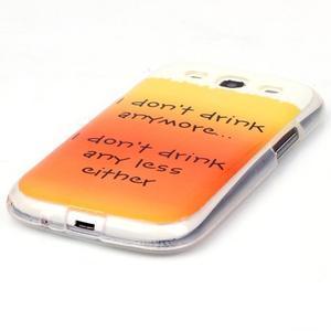Gélový obal pre mobil Samsung Galaxy S3 - drink - 2