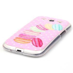 Gélový obal pre mobil Samsung Galaxy S3 - makrónky - 2