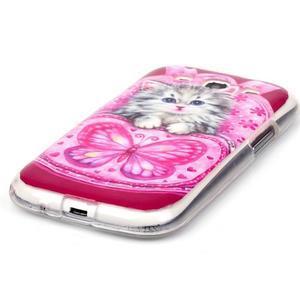 Gélový obal pre mobil Samsung Galaxy S3 - koťátko - 2