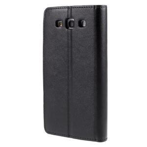 Diary PU kožené puzdro pre mobil Samsung Galaxy S3 - čierne - 2