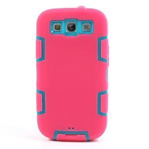 Odolné silikonové puzdro pre mobil Samsung Galaxy S3 - rose - 2