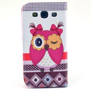 Pictu pouzdro na mobil Samsung Galaxy S3 - sova - 2
