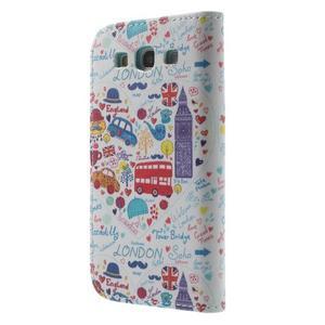 Knížečkové puzdro pre Samsung Galaxy S3 - Londýn - 2