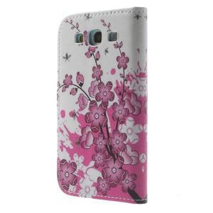 Knížečkové puzdro pre Samsung Galaxy S3 - kvitnúca vetvička - 2