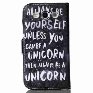 Emotive peněženkové pouzdro na Samsung Galaxy S3 - unicorn - 2