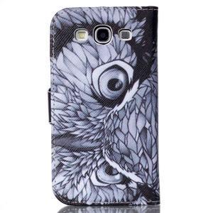 Emotive peňaženkové puzdro pre Samsung Galaxy S3 - sova - 2