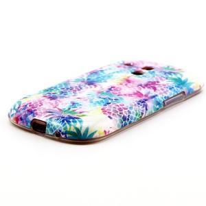 Gelový obal na mobil Samsung Galaxy S3 mini - barevné ananasy - 2