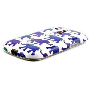 Gelový obal na mobil Samsung Galaxy S3 mini - sloníci - 2