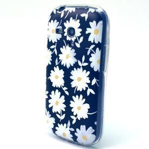 Gloss gelový kryt na Samsung Galaxy S3 mini - sedmikrásky (černé pozadí) - 2
