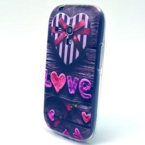 Gloss gelový kryt na Samsung Galaxy S3 mini - love - 2