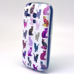 Gloss gelový kryt na Samsung Galaxy S3 mini - kočičky - 2