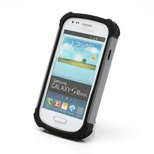 Outdoor odolný obal na mobil Samsung Galaxy S3 mini - šedý - 2