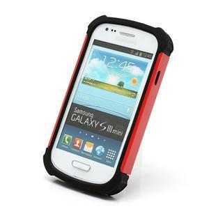 Outdoor odolný obal pre mobil Samsung Galaxy S3 mini - červený - 2