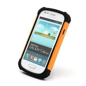Outdoor odolný obal pre mobil Samsung Galaxy S3 mini - oranžový - 2