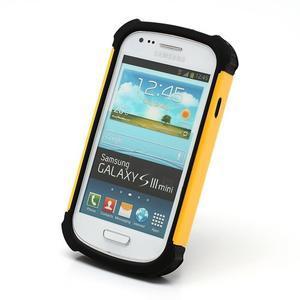 Outdoor odolný obal pre mobil Samsung Galaxy S3 mini - žltý - 2