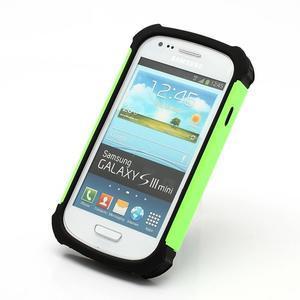 Outdoor odolný obal pre mobil Samsung Galaxy S3 mini - zelený - 2