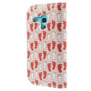Knížkové puzdro pre mobil Samsung Galaxy S3 mini - tlapky - 2