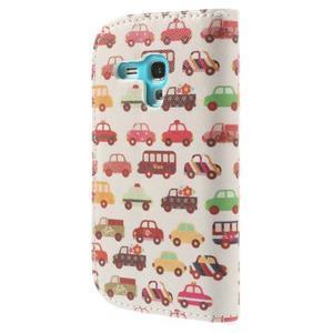 Knížkové pouzdro na mobil Samsung Galaxy S3 mini - autíčka - 2