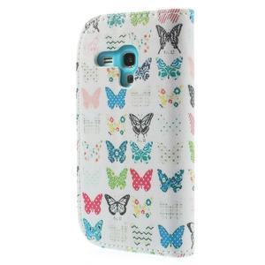 Knížkové pouzdro na mobil Samsung Galaxy S3 mini - motýlci - 2